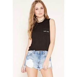 Forever 21: Camp Sleep Graphic Pocket Tank